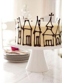 Petites maisons en chocolat - Décoration de gâteau