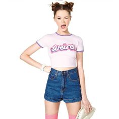 Weirdo Fun Crop Tops Shirt (back to school). 12 Cool Back to School Essentials for Teens