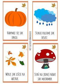 Dzieckiem bądź: Jesienne karty ruchowe DO DRUKU Kids Educational Crafts, Crafts For Kids, Games For Toddlers, Toddler Activities, Drawing Games For Kids, Preschool At Home, Autumn Crafts, Kindergarten Art, Science Experiments Kids