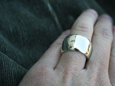 wide domed ring chunky sterling silver band by Lola $112.00, via Etsy.