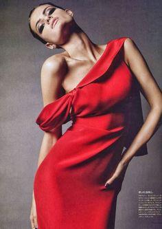 Pretty one sleeve red dress