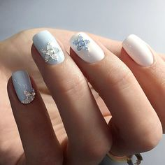 graduation-nails-designs-pale-blue-white-base-rhinestones