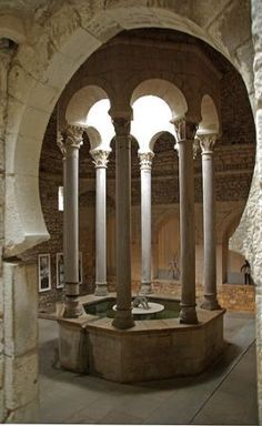Girona. Banys Arab Baths - The oldest date of the Baths' existence dates back to December 18th 1194.The relevant document affirms that the Baths were built by an order of the King Alfons I.