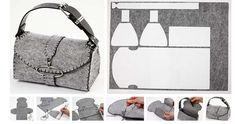 Resultado de imagen de tutoriales para hacer bolsos de fieltro