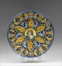 Renaissance Style 19th C. Majolica Italian Wall Charger from Pia's Antique Gallery on Ruby Lane