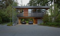 This carport would be much sexier without the prius.