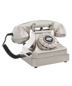 Silver Lobby Desk Phone | Home Decor | Liberty.co.uk #LibertyGifts #LibertyHome