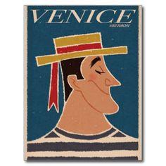 Venezia Venice Italy Vintage Travel Tourism Post Cards