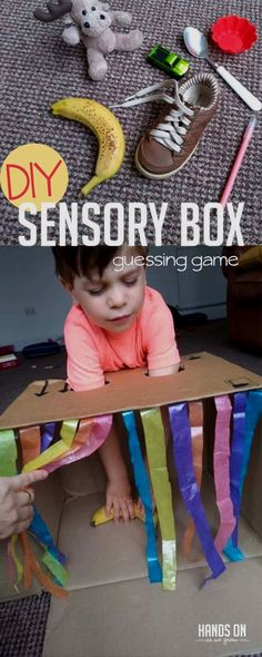Simple Sensory Box Guessing Game for Kids Play detective with just the sense of touch in this super simple DIY sensory box guessing game for kids! via detective with just the sense of touch in this super simple DIY sensory box guessing game for kids! Toddler Learning Activities, Toddler Preschool, Preschool Activities, Kids Learning, Activity Games For Kids, Education Games For Kids, Physical Education, Tactile Activities, Health Education