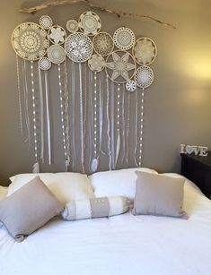 Old things in a new way modern decor with lace Crochet is a creative, and even slightly meditative process However, it is difficult to imagine how such things can be applied in a modern interior … - diy-home-decor Doilies Crafts, Crochet Doilies, Doily Art, Modern Decor, Modern Interior, Wall Murals, Wall Art, Diy Home Decor, Diy And Crafts