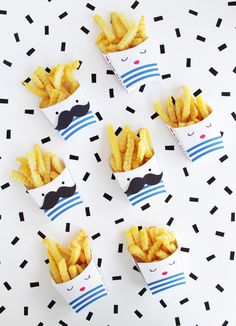 DIY Printable French Fries Boxes   Design Is Yay!
