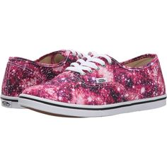 Vans Authentic Lo Pro ((Cosmic Cloud) Black/Coral) Skate Shoes ($33) ❤ liked on Polyvore featuring shoes, sneakers, vans, purple, evening shoes, skate shoes, coral sneakers, galaxy shoes and special occasion shoes