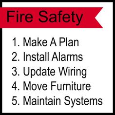 Plan out some safety measures for your office and homes before dealing with fire.