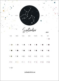 Collect Printable Moon Phase Calendar For August And September 2019 ⋆ The Best Printable Calendar Collection Free Printable Calendar Templates, Calendar Design Template, Calendar 2019 Printable, Lunar Calendar 2018, September Calendar 2018, Free 2018 Calendar, Zodiac Calendar, Calendar Journal, Photo Calendar