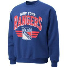 New York Rangers Blue Mitchell   Ness Stadium Crew Neck Sweatshirt by  Mitchell   Ness. 3a249531aac