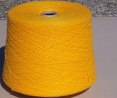 Yellow Gold Acrylic Yarn, Yellow Machine Knitting Yarn, Yellow Cone Yarn by stephaniesyarn on Etsy