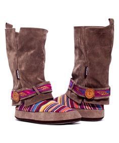 Recycler manche de manteau  Look what I found on #zulily! Brown Andrea Rockin Moroccan Slipper Boot #zulilyfinds