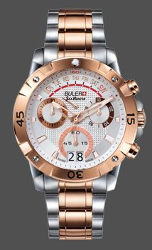 4722 Buler Sea Hunter chronograph Rose gold and stainless steel $749.99