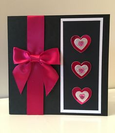 Luxurious with love card, satin & metallic heart trim