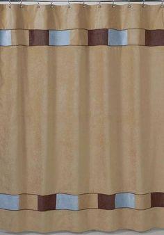 Sweet Jojo Designs Soho Blue Shower Curtain (ShowerCurtain-SohoBlue) #tinytotties
