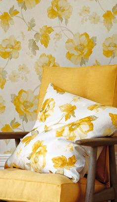 Wallpapers: Fairhaven - Collette Ward Interiors Design and Decoration - Interior Designers, Wicklow, Ireland. Yellow White, Yellow, Yellow Decor, Decor, Color, Pillows, Yellow Interior, Yellow Cottage, Shades Of Yellow