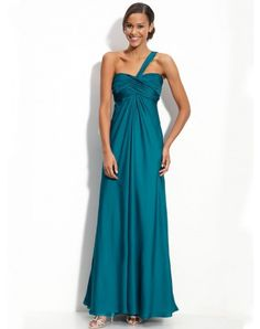 2012 Spring Style Sheath / Column One Shoulder Ruffles Sleeveless Floor-length Chiffon Prom Dresses / Evening Dresses (SZ020653 )