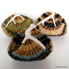 Woven Antler Basket from Natural Materials by TheBentTreeGallery, $105.00