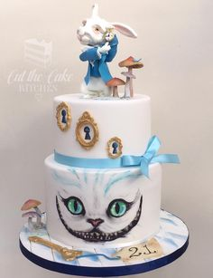 Alice in Wonderland Cake Tim Burton Style and hand painted made by Cut The Cake Kitchen