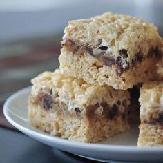 cookie dough crispy treats by spabettie