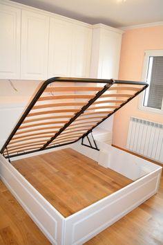 Mobila Dormitor cu Usi si Pat din MDF Culoare Alb Fibros Frezare A 71 P Somiera Rabatabila