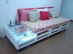 60 Stunning DIY Projects Pallet Sofa Design Ideas – Home Design Diy Pallet Sofa, Wooden Pallet Projects, Pallet Beds, Diy Sofa, Diy Pallet Furniture, Diy Projects, Furniture Projects, Sofa Design, Canapé Design
