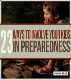 Disaster Preparedness: Prepping with Kids | Survival Skills & Self Defense Ideas For Your Children By Survival Life survivallife.com/... #selfdefenseforkids #selfdefenseforchildren #SurvivalPreppingWithKids