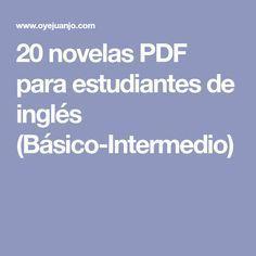 20 novelas PDF para estudiantes de inglés (Básico-Intermedio)