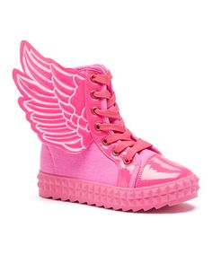 Look what I found on #zulily! Fuchsia Angel Hi-Top Sneaker #zulilyfinds