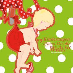 Kinderaugen... Postkarte, 14,8x14,8