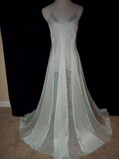 Love Blue Lace on a Vintage Nightgown!!!