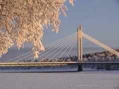 Lumberjack's Candle Bridge in Rovaniemi in Lapland