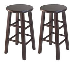 "Winsome Wood 94264 Set of 2 Square Leg, 24"" Counter Stool"