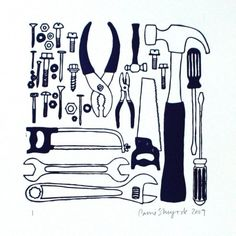 letterpress tool print, perfect for dads. and ladies who like to fix things.