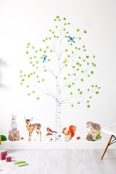 Nursery Forest Decor Woodland Decor Set Forest Wall by chocovenyl