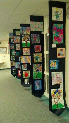 Elementary Art Ideas For Kids Classroom Trendy Ideas School Displays, Ecole Art, Artwork Display, Art Walk, Inspiration Art, Preschool Art, Art Club, Art Activities, Teaching Art