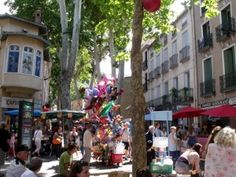 Busy Saturday market in Ceret Pyrenees, Street View, France, Marketing, Travel, Viajes, Destinations, Traveling, Trips