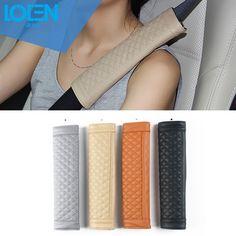 2PC/lot Leather car-styling Car Seat belt cover for toyota mercedes benz  audi bmw honda chevrolet vw ford Jeep subaru lada kia