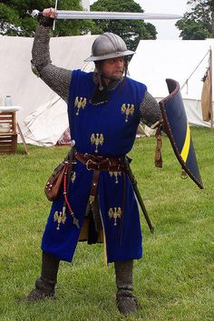 Middle Ages, reenactment. Sword and shield by One lucky guy, via Flickr