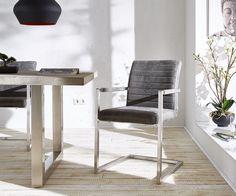 DELIFE Freischwinger Earnest Grau Vintage Gestell Edelstahl, Esszimmerstühle Jetzt bestellen unter: https://moebel.ladendirekt.de/kueche-und-esszimmer/stuehle-und-hocker/freischwinger/?uid=84c89c13-8c52-52f2-8c5f-b64290466fee&utm_source=pinterest&utm_medium=pin&utm_campaign=boards #freischwinger #kueche #esszimmer #hocker #stuehle