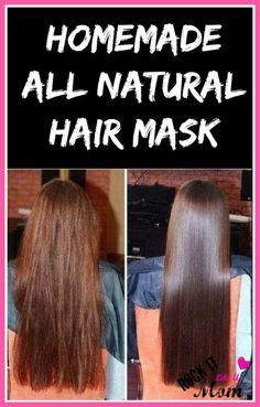 Homemade All Natural Hair Mask