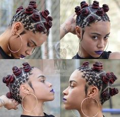 Image result for bantu knots and braids