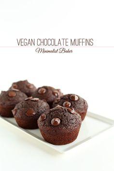 Vegan Double Chocolate Muffins | Minimalist Baker Recipes