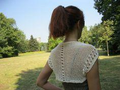 Champagne Shrug ....Elegant Hand Knitted Summer Shrug by Rumina