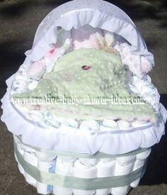 How to make a diaper bassinet cake